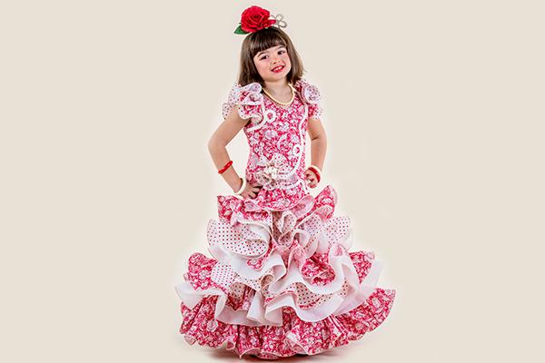 Vestido de flamenca para niña Rociera