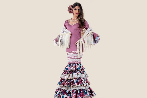 Vestido de flamenca en lila Rociera