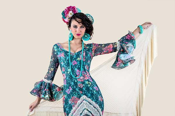 Vestido de flamenca estampado Rociera